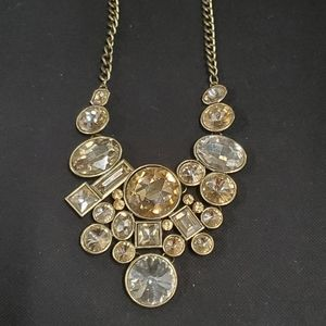 Amber and Gold Statement Necklace